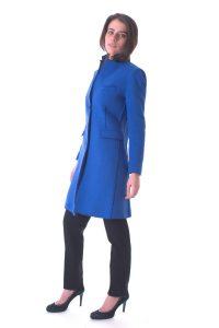 cappotto donna lungo bllu taglio vivo (5)