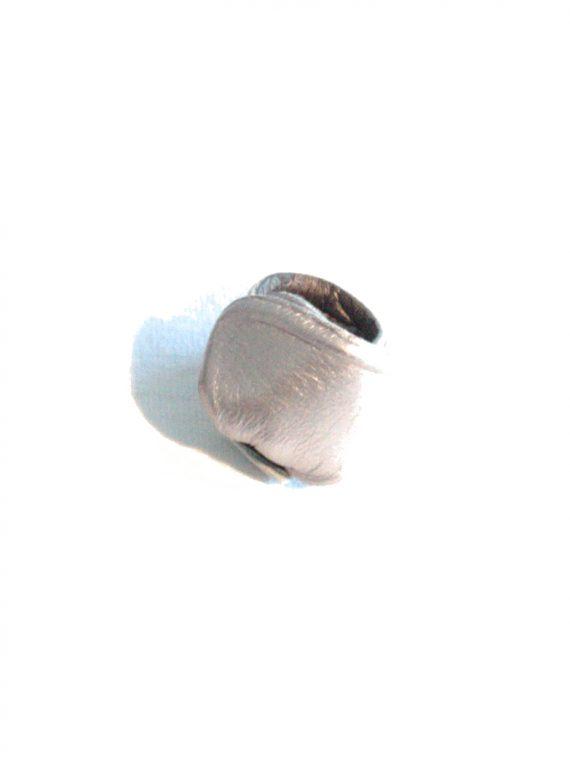 anello argento liscio donna